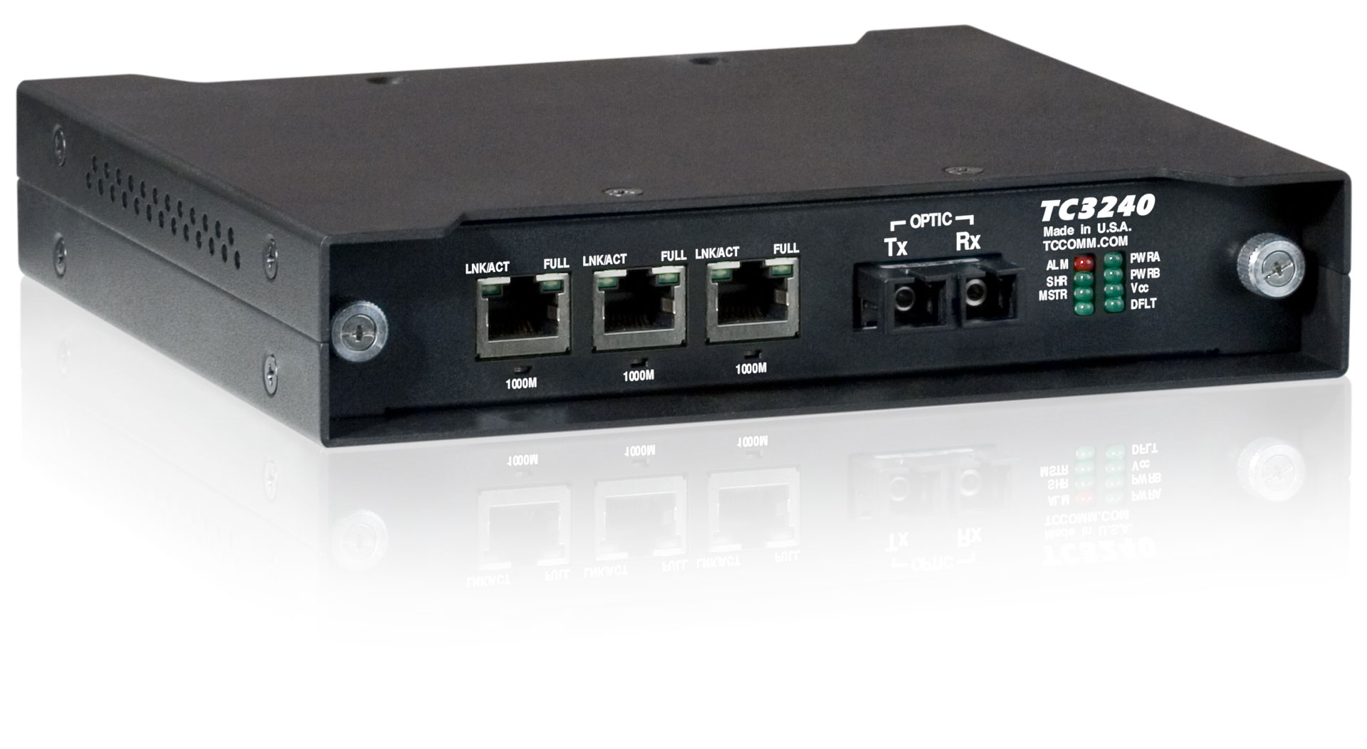 3-Port Fiber Optic Ethernet Media Converter Switch