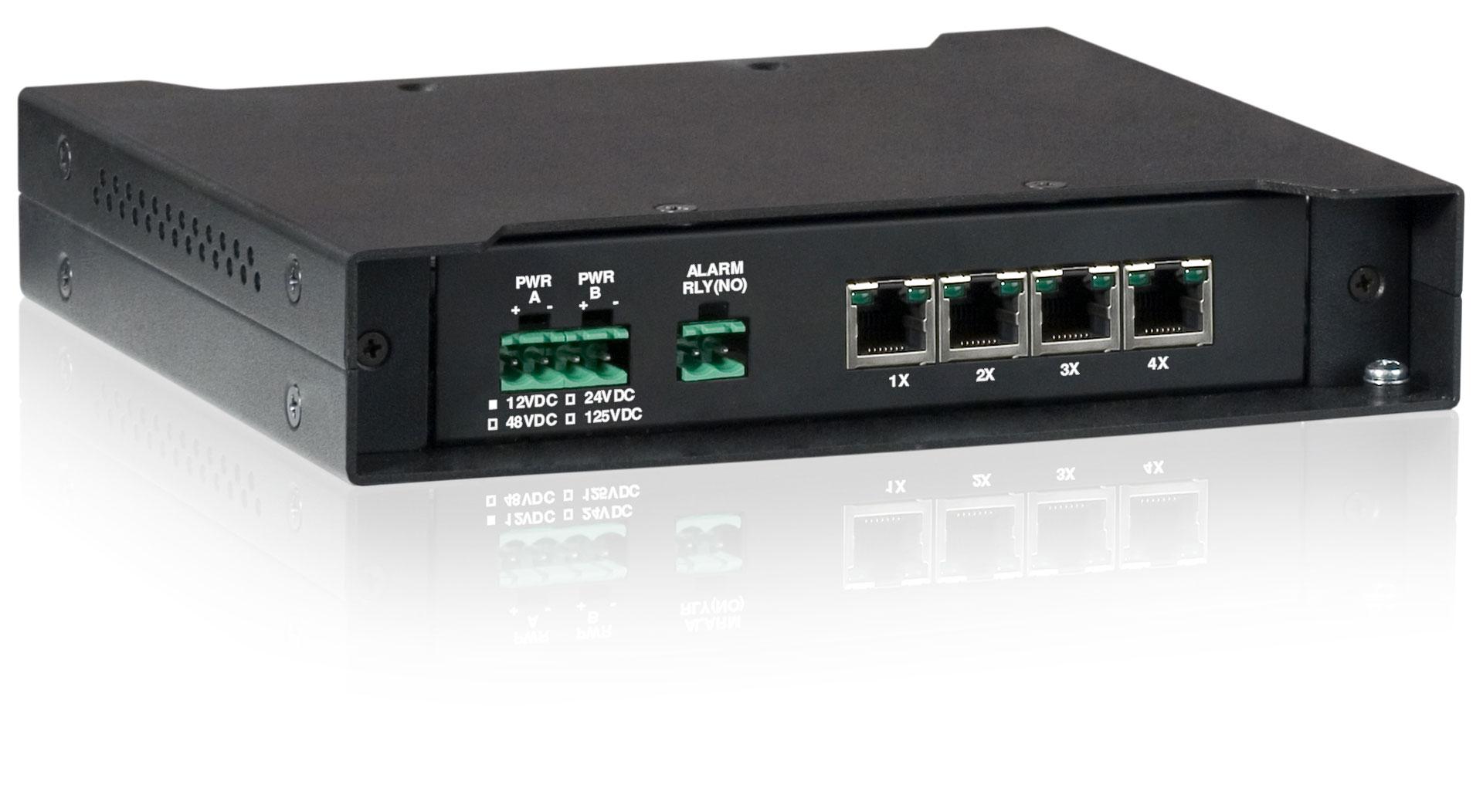 Unmanaged 4 Port Fiber Optic Ethernet Switch Tc3705 Tc