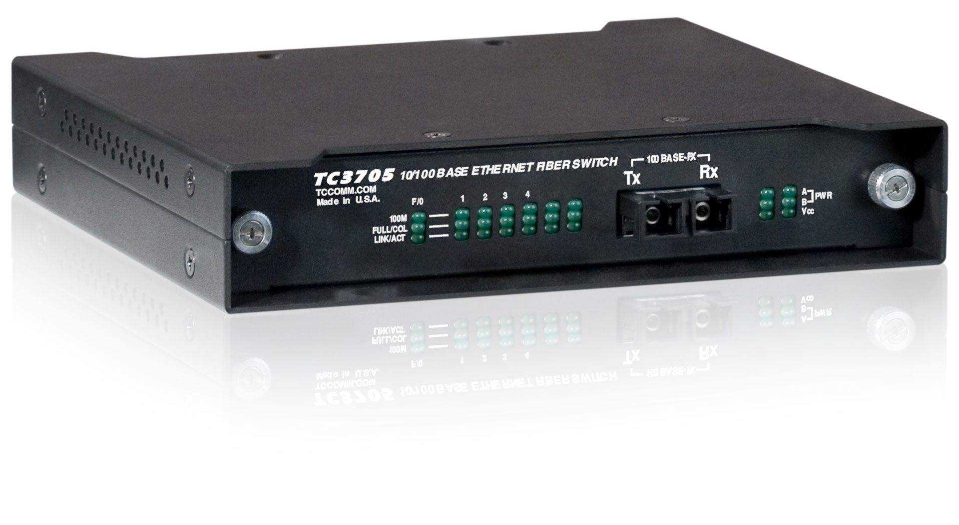 Unmanaged 4-Port Fiber Optic Ethernet Switch - TC3705 - TC