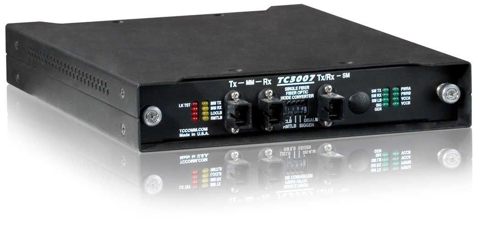 Tc3007 Fiber Optic Mode Converter Repeater With Wdm Tc