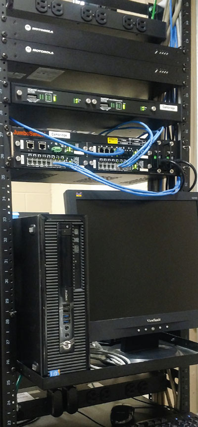 TC8928 and JumboSwitch® 2U at Henry County's Cambridge location.